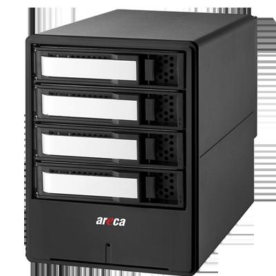 ARC-8050T3-4 Areca - 4 bay storage 40Gb/s Thunderbolt 3