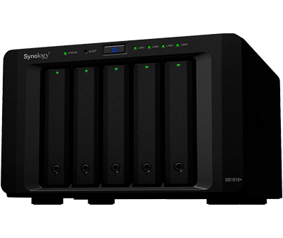 Synology DS1515+ 40TB - Storage NAS 5 baias hot-swappable