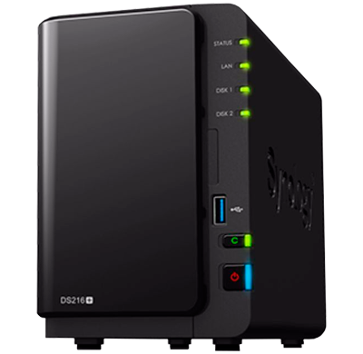DS216+ Synology - Storage NAS DiskStation até 16TB