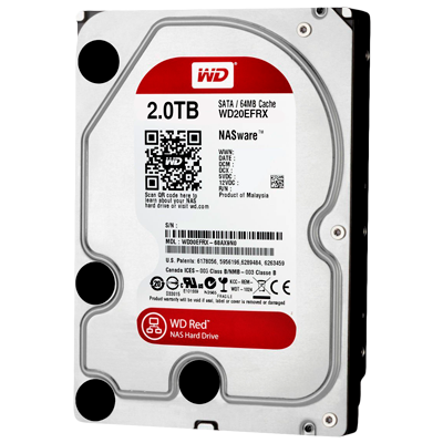 WD20EFRX - HD WD Red 2TB 5.400 rpm SATA 6Gb/s para storages e servidores