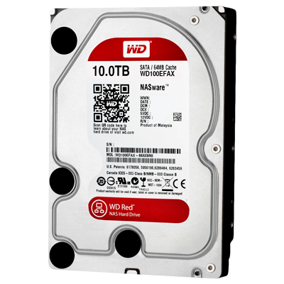 WD100EFAX WD - HD interno Red 10TB SATA III 5.400 RPM 6Gb/s