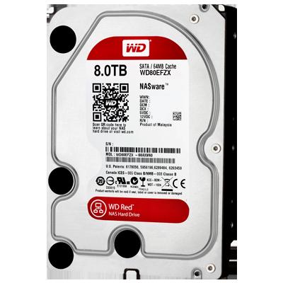 WD80EFZX WD - HD interno 8TB Red SATA III para servidores e storages