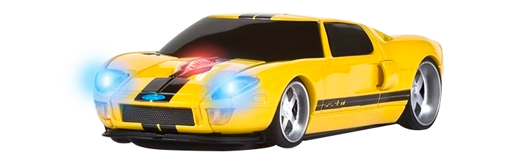 MOUSE WIRELESS FORD GT AMARELO - ROAD MICE