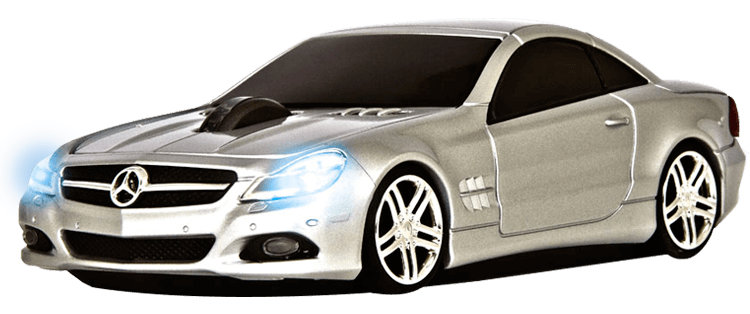 MOUSE WIRELESS MERCEDES BENZ SL550 PRATA - ROAD MICE