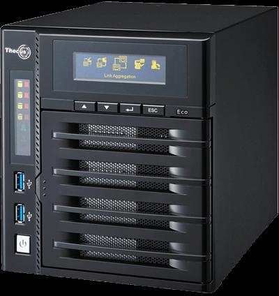 Thecus N4800Eco - Storage NAS 4 baias torre até 40TB