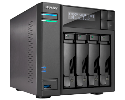 Storage NAS 4 baias SATA - AS6204T Asustor