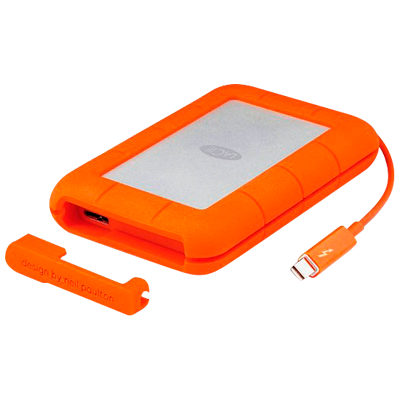 STEV1000400 LaCie Rugged - HD 1TB Thunderbolt e USB 3.0