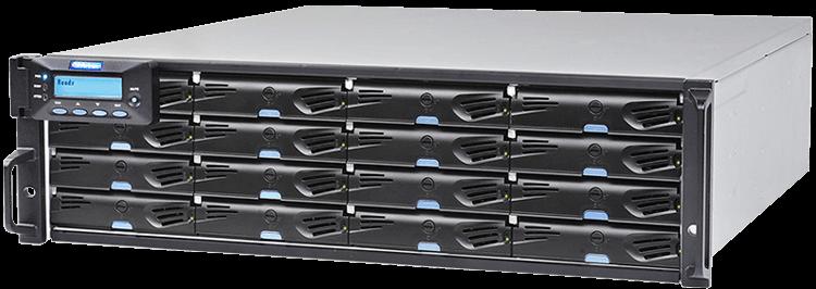 ESDS 3016G Storage iSCSI/FC/SAS para sistemas CFTV e Digifort