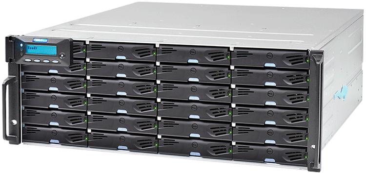 ESDS 3024R - 24 Bay Storage iSCSI/FC/SAS de Discos SATA/SAS