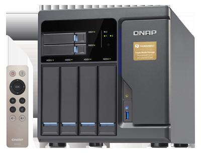 Qnap TVS-682T - Storage Thunderbolt 2 DAS/NAS/iSCSI SAN com 2 portas 10GbE