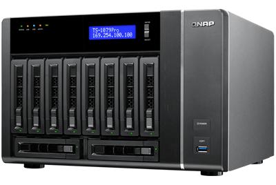 TS-1079 Pro Qnap, Turbo NAS para 10 hard disks SATA