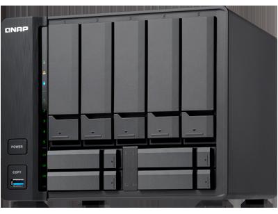 Qnap TS-932X - Server NAS 9 baias hot-swappable e 2 portas 10GbE