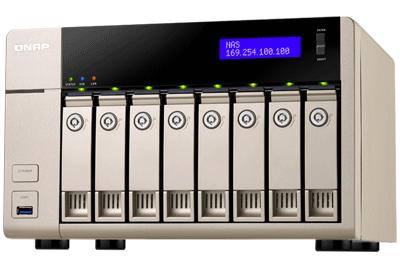 TVS-863 Qnap - Storage NAS 8 baias até 64TB para hard disks SATA