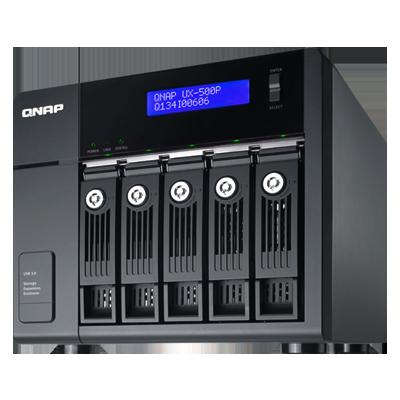 UX-500P Qnap - JBOD SATA 5 baias até 30TB para hard disks SATA