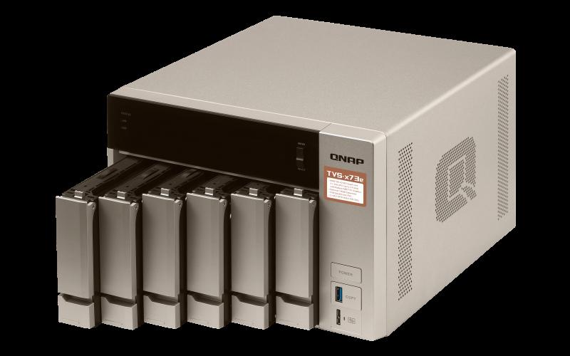 Qnap TVS-673e servidor NAS 6 baias