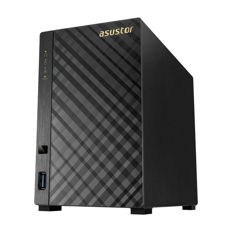 AS3102T Asustor - Storage 16TB NAS 2 baias para hard disks SATA