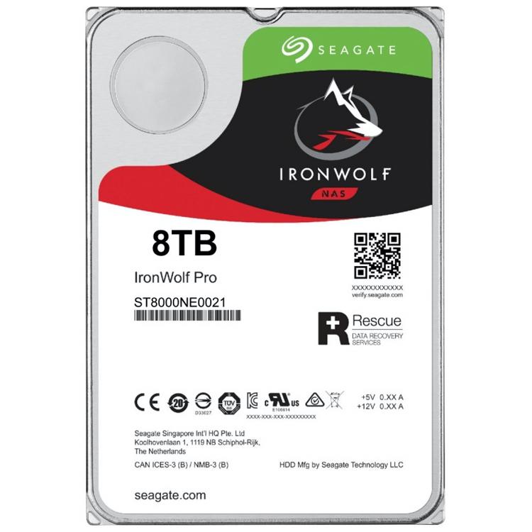HD SATA 8TB 7200rpm IronWolf Pro, ST8000NE0021 Seagate