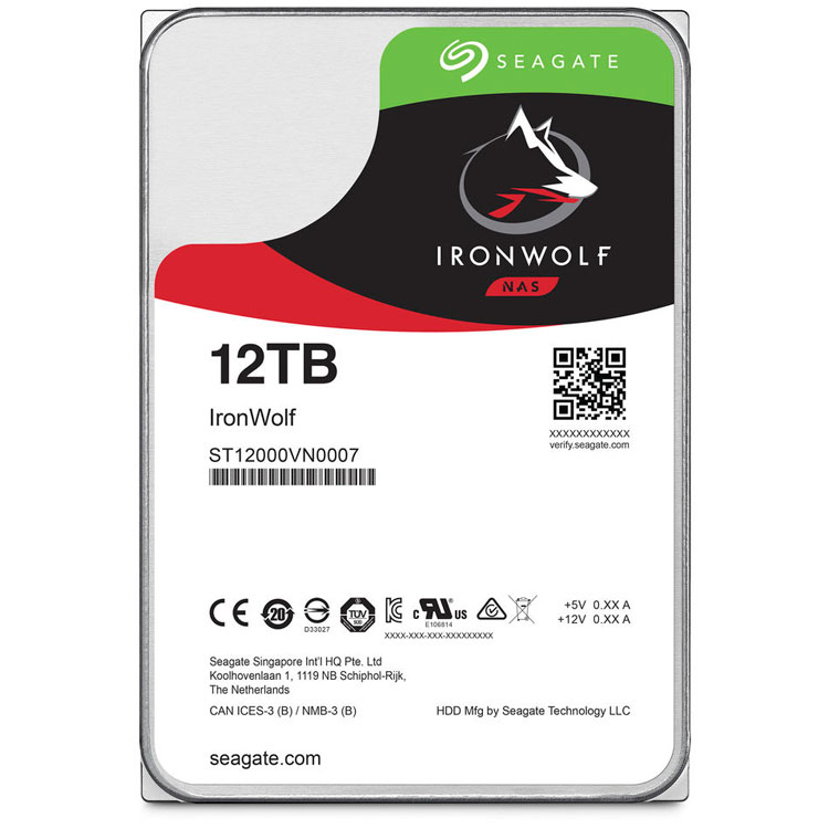 HD SATA 12TB 6Gb/s Seagate IronWolf 7200RPM ST12000VN0007