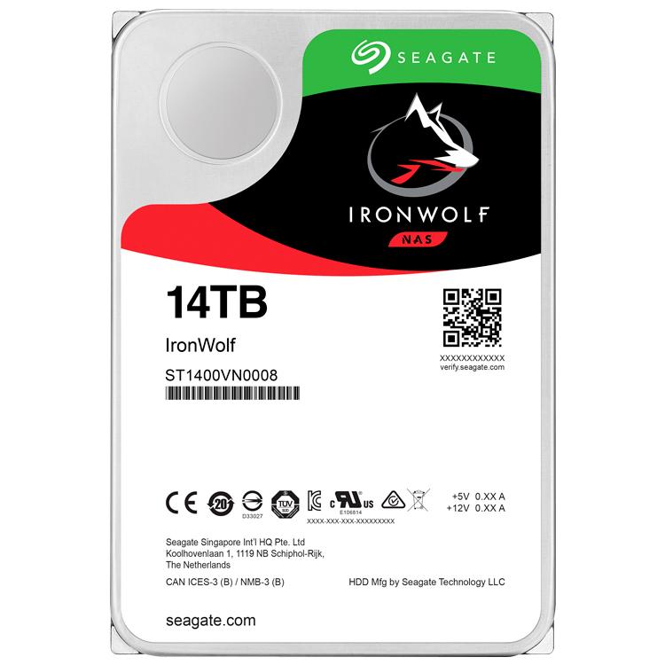 Seagate ST14000VN0008 - IronWolf HD SATA 14TB 6Gb/s 7200rpm