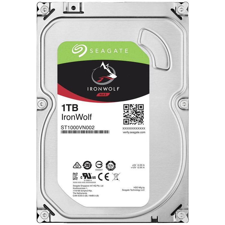 IronWolf ST1000VN002 - HD SATA 1TB 5900rpm Seagate