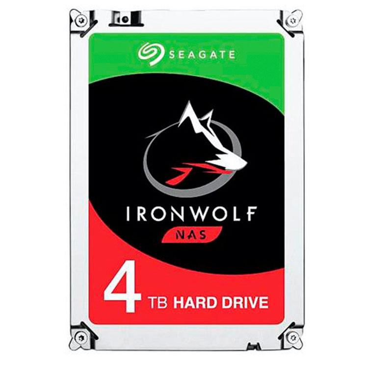 ST4000VN008 Seagate, HD SATA 4TB interno 5900rpm Ironwolf