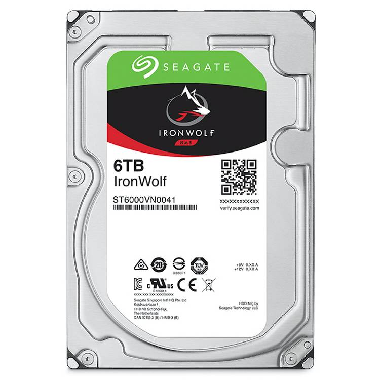 ST6000VN0041 Seagate, HD SATA 6TB interno 7200rpm IronWolf