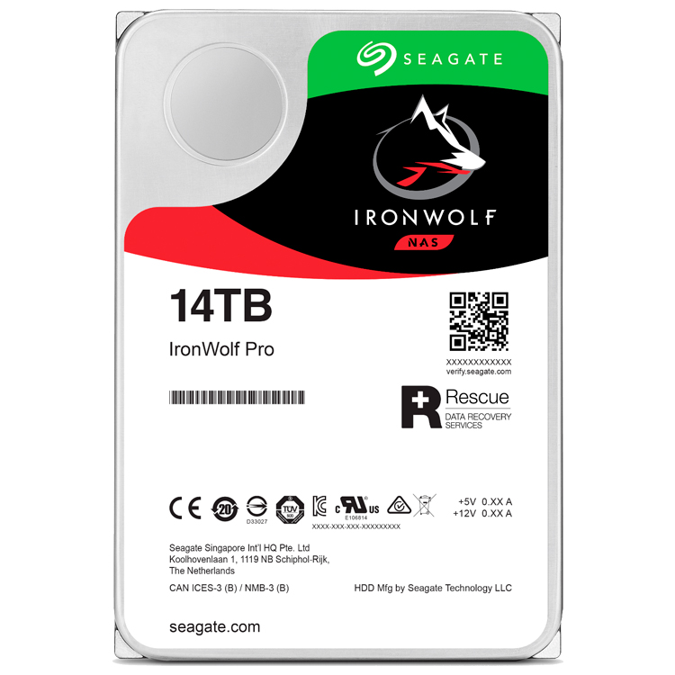 IronWolf Pro 14TB - HD Seagate 7200rpm ST14000NE0008