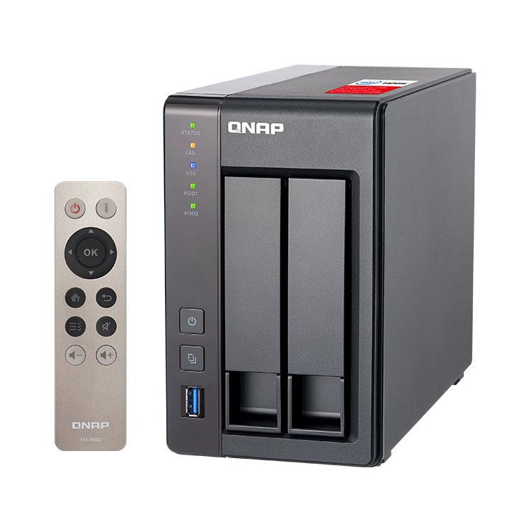 TS-251+ Qnap - 2 bay NAS e Media server DLNA HDMI até 20TB