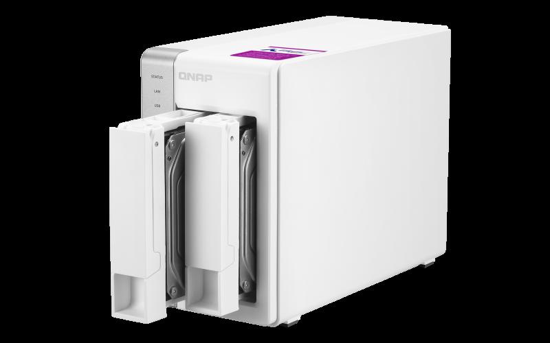 Qnap TS-231P2 - Storage NAS 2 baias hot-swappable até 24TB