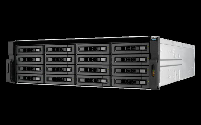 REXP-1620U-RP Qnap - Expansão JBOD SAS 16 baias hot-swappable