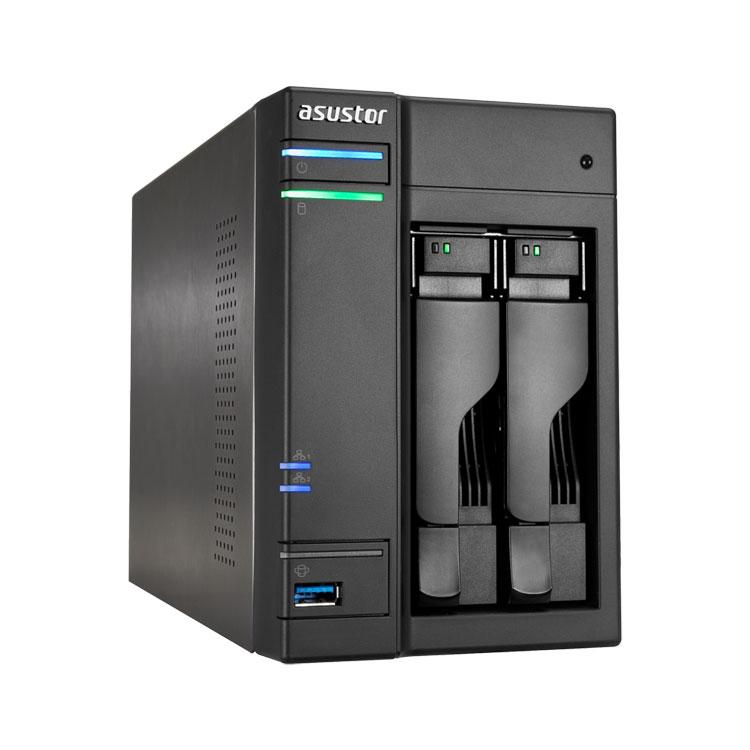 NAS storage 2 Bay SATA até 20TB - Asustor AS6202T