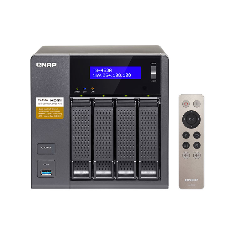 Qnap TS-453A - NAS Storage 4 baias 16TB SATA
