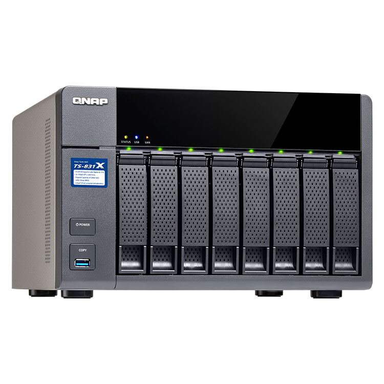 Storage 8 bay NAS TS-831X Qnap