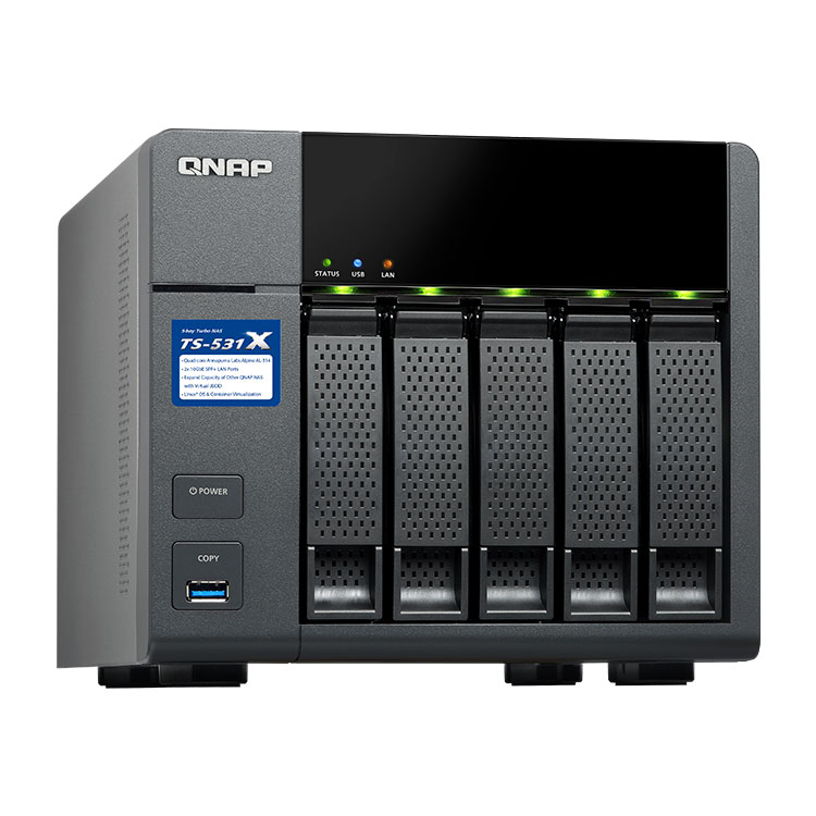 TS-531X Qnap - storage NAS até 50TB SATA