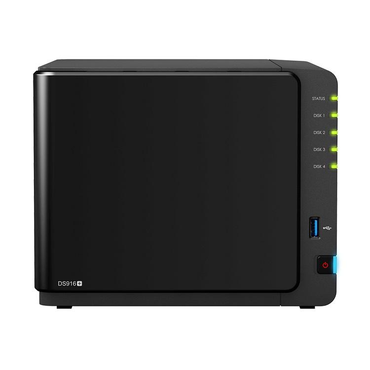 Synology NAS DS916+, Storage para até 90TB e baias para drives SATA II ou SATA III
