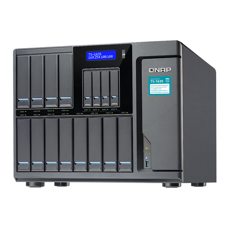 TS-1635 Qnap - 16 bay NAS Storage até 120TB para Backup Corporativo