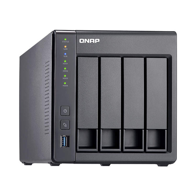 NAS server para 4 hard disks SATA até 40TB TS-431X Qnap