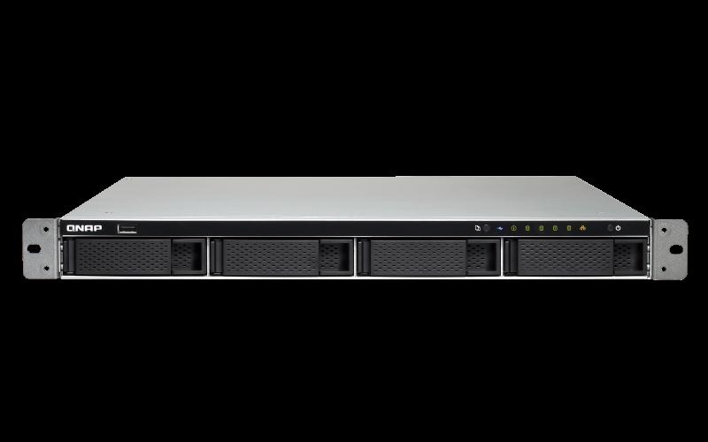 Qnap TS-463XU-RP – Servidor NAS 4 baias hot-swappable rackmount