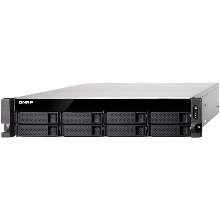 Storage de rede rackmount NAS 8 baias até 80TB TS-831XU Qnap