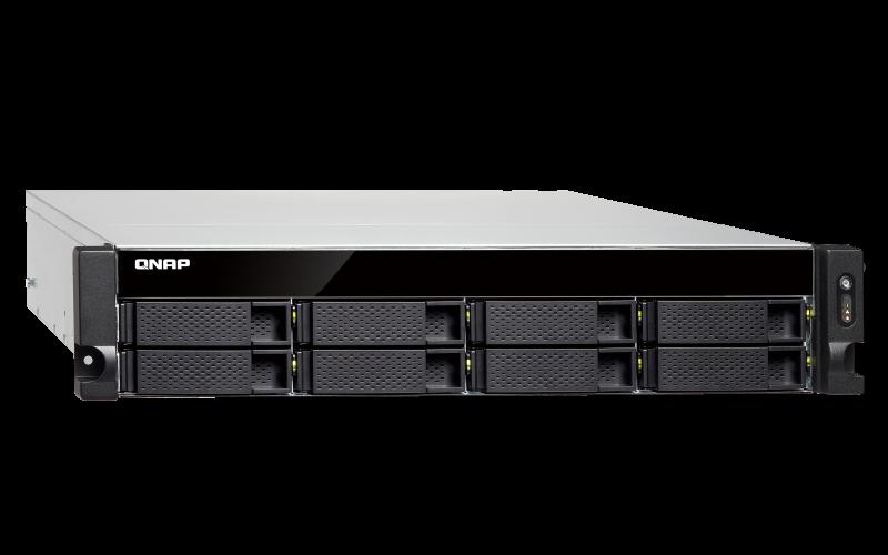 Qnap TS-832XU - NAS 8 baias hot-swappable rackmount e 2 portas 10GbE