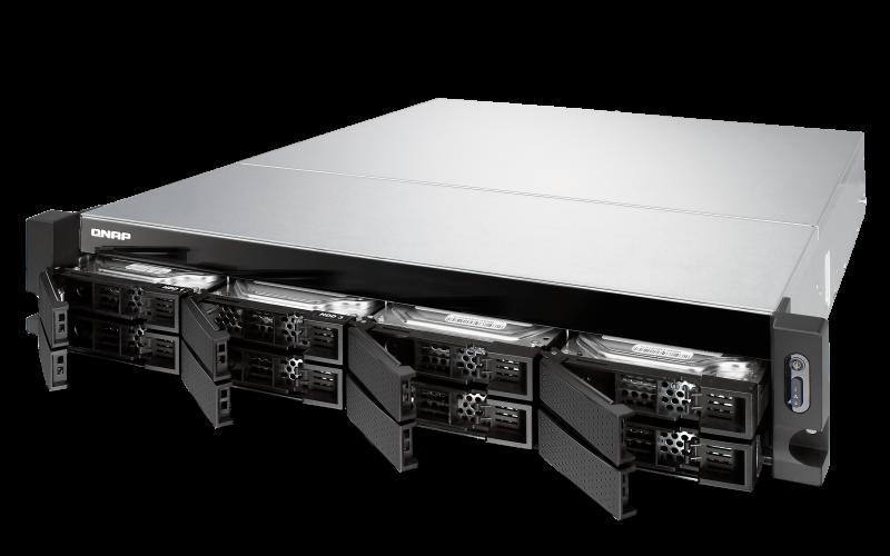 Qnap TS-863XU-RP - Storage 8 baias hot-swappable e fonte redundante