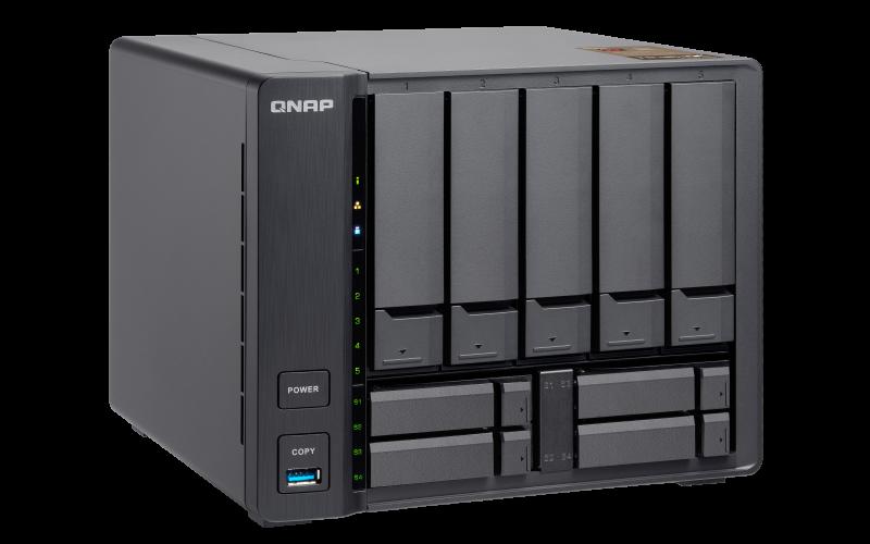 Qnap TS-963X - Servidor de backup 9 baias hot-swappable e uma porta 10GbE