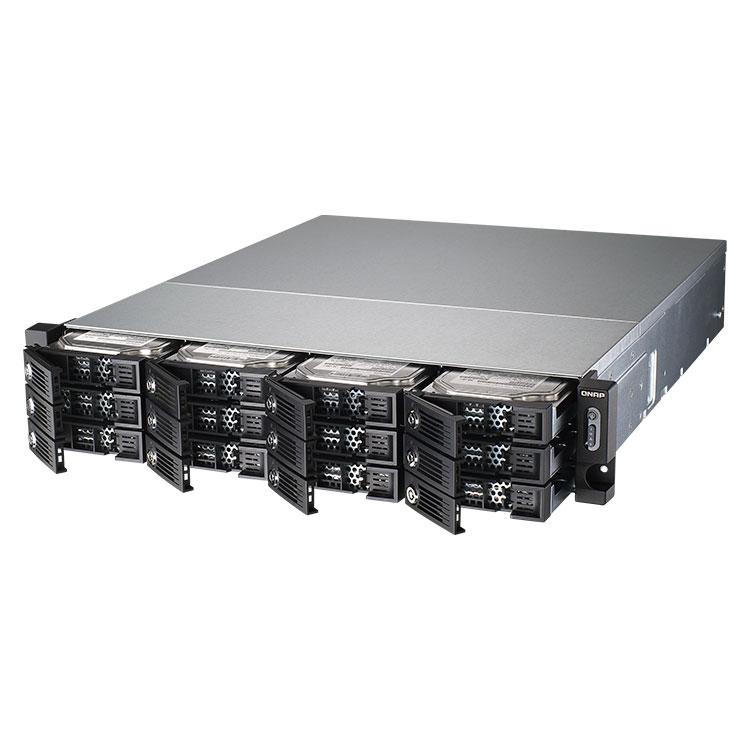 TVS-1271U-RP Qnap - Storage 36TB Rackmount 12 baias para discos SATA