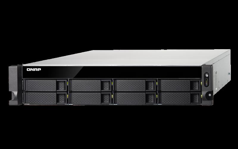 Qnap TVS-872XU-RP - Servidor NAS 8 baias hot-swappable e fonte redundante