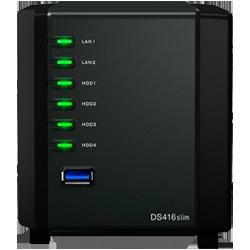 Servidor de dados DS416slim Synology DiskStation 16TB