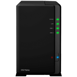 DS216play Synology Diskstation - Storage NAS 2 Bay SATA até 16TB