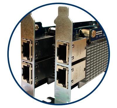 Expansão de 10GbE para o storage 24 discos Qnap