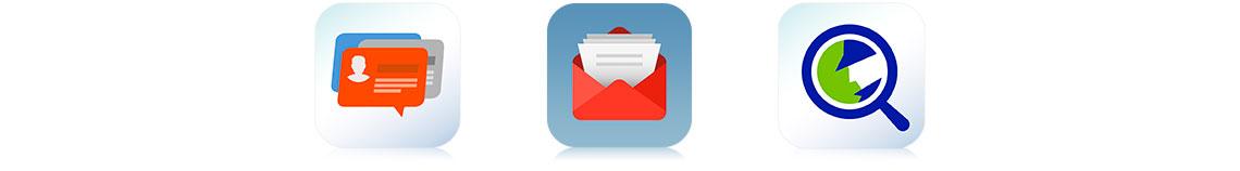 Gerenciamento centralizado de e-mail e contatos