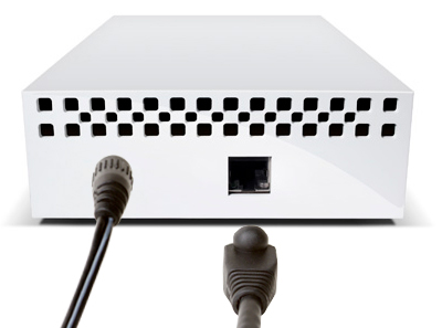 O HD network LaCie é fácil de instalar