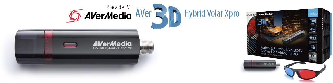 Placa Sintonizadora de TV Digital e Analógica Volar USB